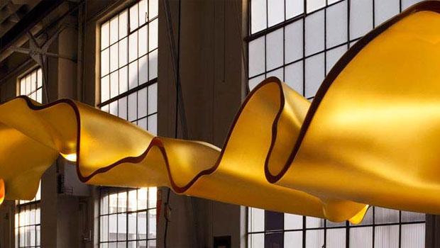 ingo maurer golden ribbon. Black Bedroom Furniture Sets. Home Design Ideas