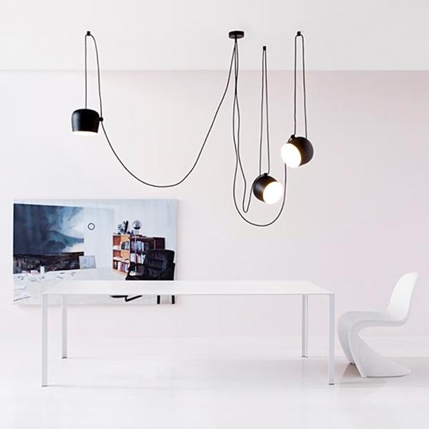 flos pendelleuchte aim aim small design achille castiglioni. Black Bedroom Furniture Sets. Home Design Ideas