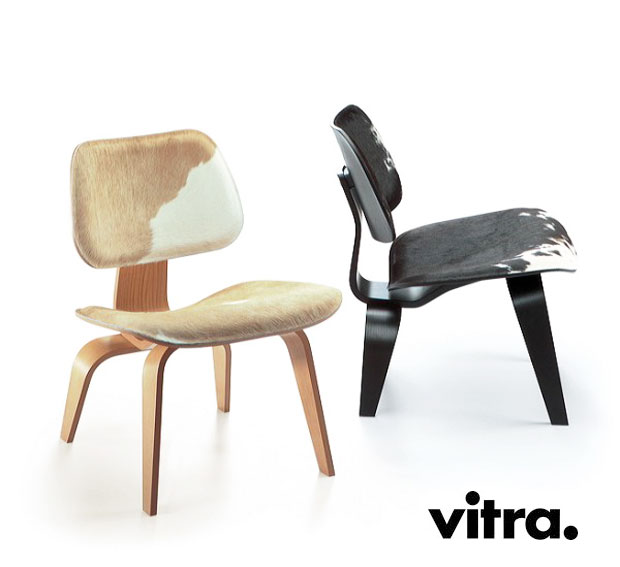 vitra plywood lcw calf 39 s skin charles ray eames 1945 46. Black Bedroom Furniture Sets. Home Design Ideas