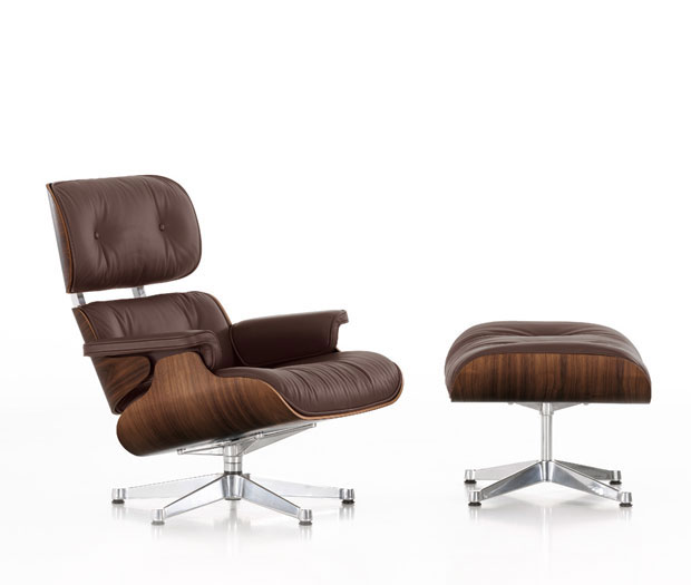 Vitra lounge chair ottoman design charles ray eames 1956 for Eames sessel replica