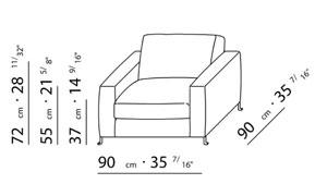 Sessel skizze  Flexform - BOB Sessel (design: Centro Study 1997)