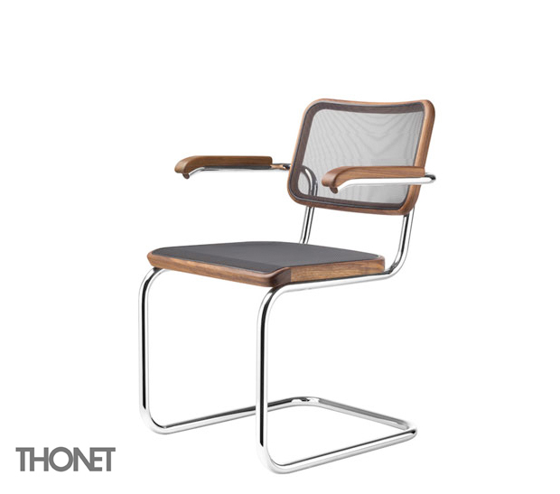 thonet s 64n stuhl design marcel breuer mart stam 1929 30. Black Bedroom Furniture Sets. Home Design Ideas