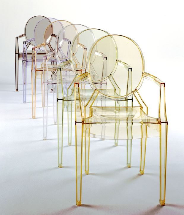 KARTELL - LOUIS GHOST Stapelstuhl (design: Philippe Starck)