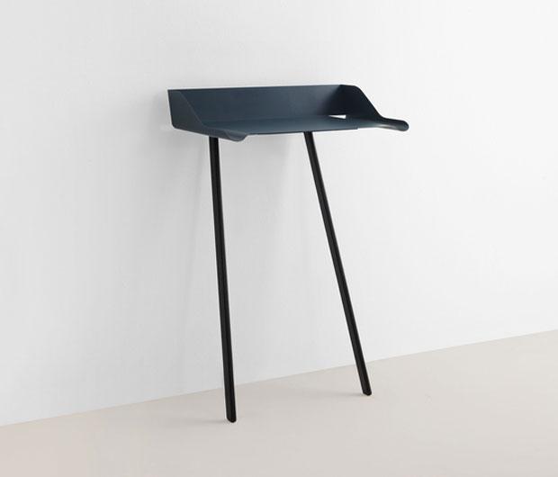 Mox storch anlehnschreibtisch design nando schmidlin for Schreibtischplatte schwarz