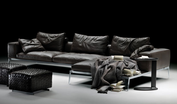 flexform lifesteel sofa design antonio citterio 2006. Black Bedroom Furniture Sets. Home Design Ideas