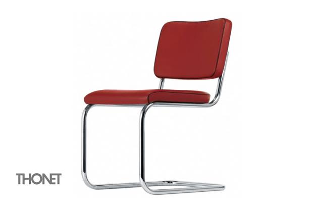 Thonet s 32pv stuhl design marcel breuer mart stam for Design stuhl freischwinger piet 30