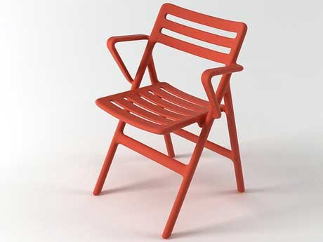 Klappstuhl Mit Lehne ~ Magis folding air chair design: jasper morrison