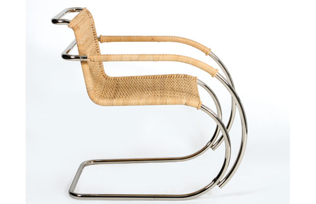 tecta b 42 d 42 wei hofstuhl design ludwig mies van. Black Bedroom Furniture Sets. Home Design Ideas