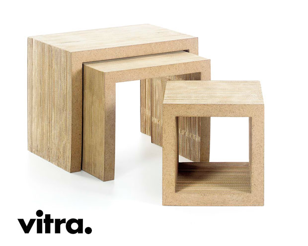 vitra low table set frank gehry 1972. Black Bedroom Furniture Sets. Home Design Ideas