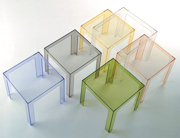 Kartell beistelltisch jolly design paolo rizzatto for Beistelltisch 40x40x40