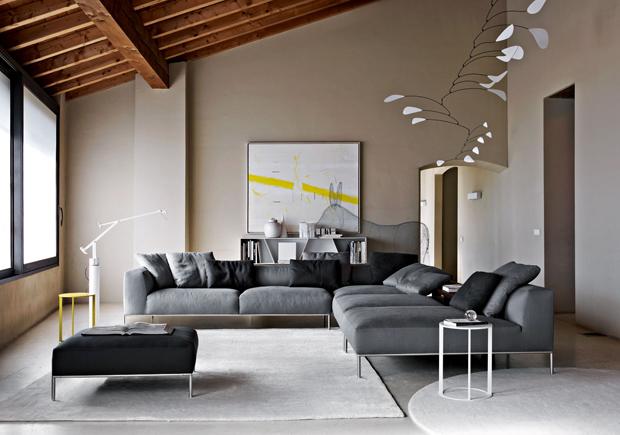 B b italia frank sofa design antonio citterio - B b italia design ...
