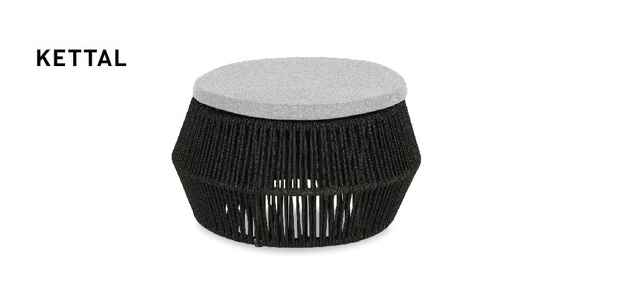 kettal zigzag pouf design emiliana design studio. Black Bedroom Furniture Sets. Home Design Ideas