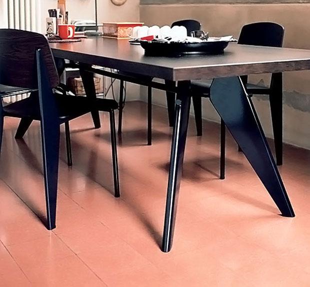vitra em table jean prouv 1950. Black Bedroom Furniture Sets. Home Design Ideas