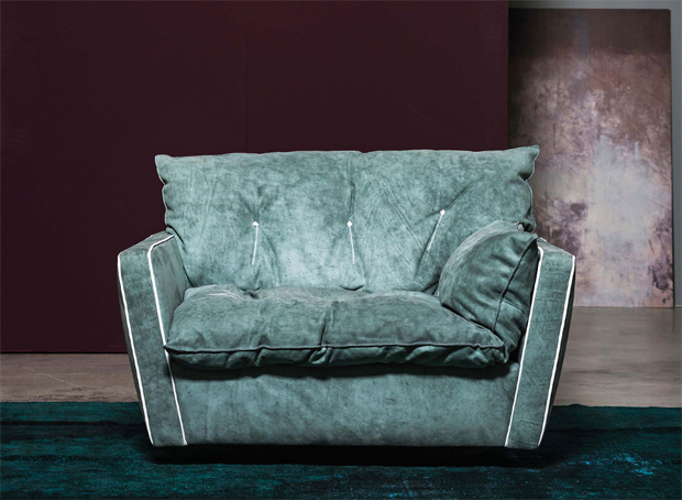Loveseat sessel xxl  BAXTER - SORRENTO SESSEL ( design: Paola Navone)