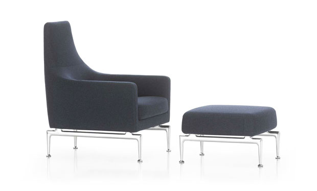 vitra suita fauteuil ottoman design antonio citterio 2010. Black Bedroom Furniture Sets. Home Design Ideas