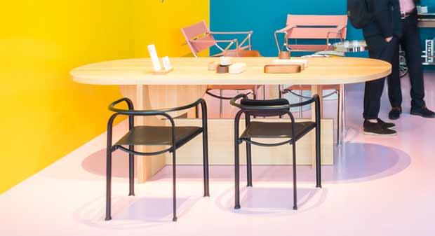 tecta split chair design daniel lorch 2017. Black Bedroom Furniture Sets. Home Design Ideas