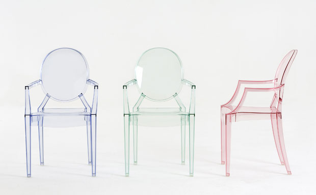 kartell lou lou ghost stapelstuhl desing philippe starck. Black Bedroom Furniture Sets. Home Design Ideas