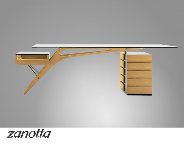 Zanotta cavour schreibtisch gewidmet carlo mollino 1949 for Schreibtisch untergestell