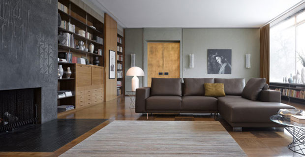 walter knoll blue two sofa couch design eoos. Black Bedroom Furniture Sets. Home Design Ideas