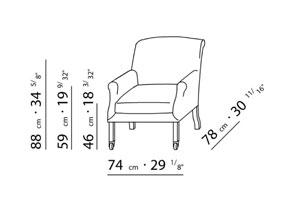 Sessel skizze  Flexform - Press Sessel