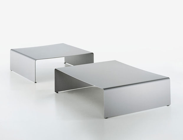 Mdf italia la table basse couchtisch for Couchtisch aluminium design