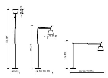 artemide stehleuchte tolomeo mega design de lucci und. Black Bedroom Furniture Sets. Home Design Ideas