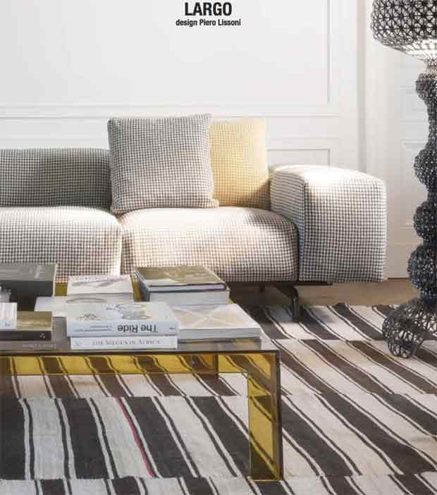 Pop Missoni Sofa Design Sofa Kartell 2 Or 3 Seats With: LARGO Sofa (design: Piero Lissoni