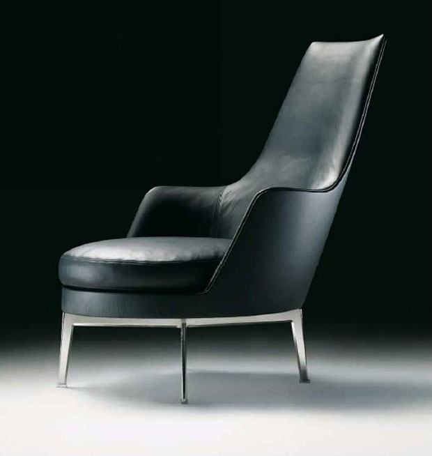 flexform guscio alto sessel. Black Bedroom Furniture Sets. Home Design Ideas