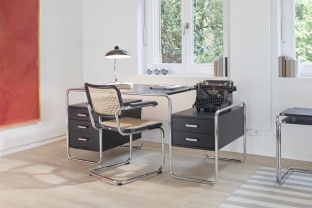 thonet s 285 stahlrohr schreibtisch design marcel breuer. Black Bedroom Furniture Sets. Home Design Ideas