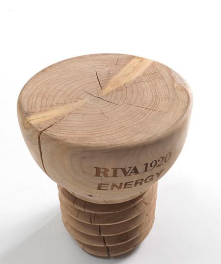 lampadina wood : RIVA 1920 - LAMPADINA HOCKER ( design:Alberto Alcamisi )