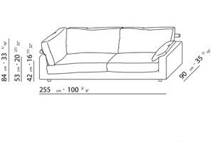 Flexform patrik sofa design flexform centro studi 1985 for Couch zeichnen