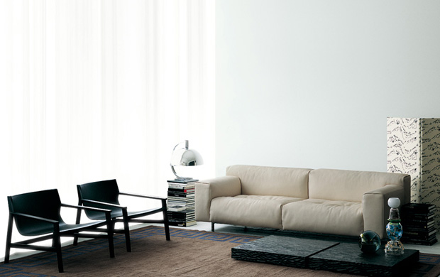 living divani softwall sofa design piero lissoni. Black Bedroom Furniture Sets. Home Design Ideas