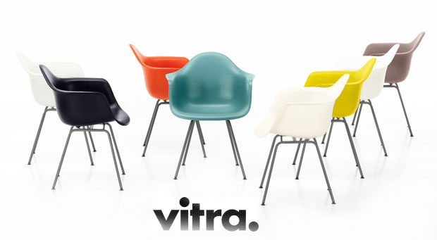 vitra eames plastic armchair dax charles ray eames 1950. Black Bedroom Furniture Sets. Home Design Ideas
