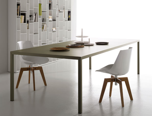 mdf italia tisch steel. Black Bedroom Furniture Sets. Home Design Ideas