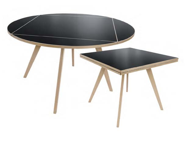 max bill quadratrundtisch design max bill 1949. Black Bedroom Furniture Sets. Home Design Ideas
