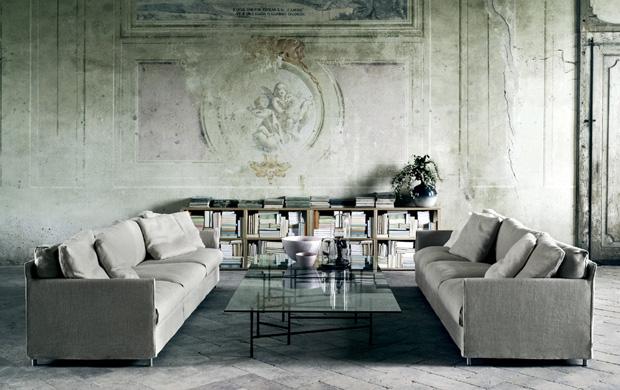 Living divani chemise sofa design piero lissoni for Living divani softwall