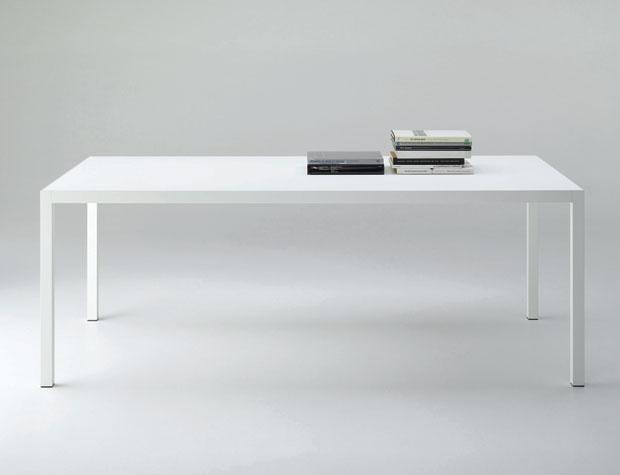 Tischplatte weiß matt  MDF Italia - Tisch Keramik (Design: Bruno Fattorini)