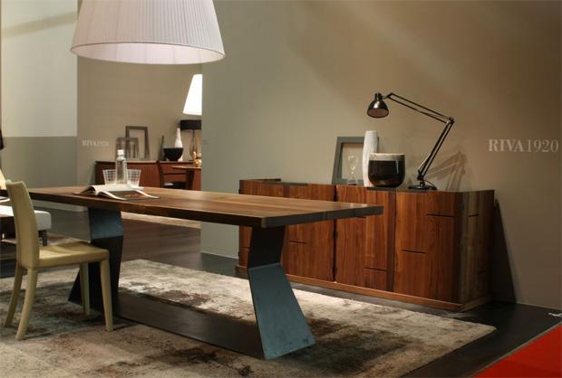 riva 1920 bedrock plank c esstisch design terry dwan. Black Bedroom Furniture Sets. Home Design Ideas