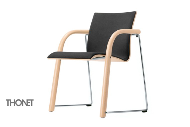 Thonet s 320 polsterstuhl design wulf schneider for Stuhl design thonet