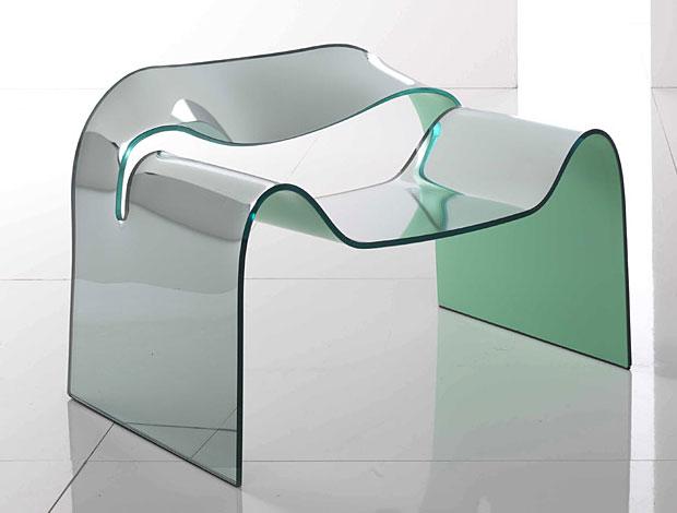 FIAM  Ghost Sessel aus Glas (design Cini Boeri)