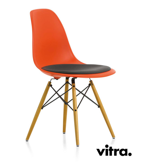 Vitra eames plastic side chair dsw charles ray eames 1950 for Eames stuhl dsw reproduktion