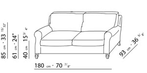 Flexform umberto for Sofa zeichnung