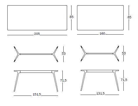 magis baguette table design ronan erwan bouroullec. Black Bedroom Furniture Sets. Home Design Ideas