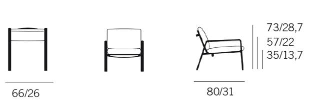 Sessel skizze  KETTAL - CLUB SESSEL PARK LIFE ( Design: Jasper Morrison)