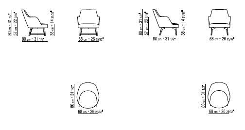 Flexform Sessel Hera Design Antonio Citterio 2018