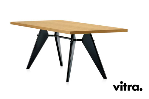 Vitra em table jean prouv 1950 for Tischbeine design
