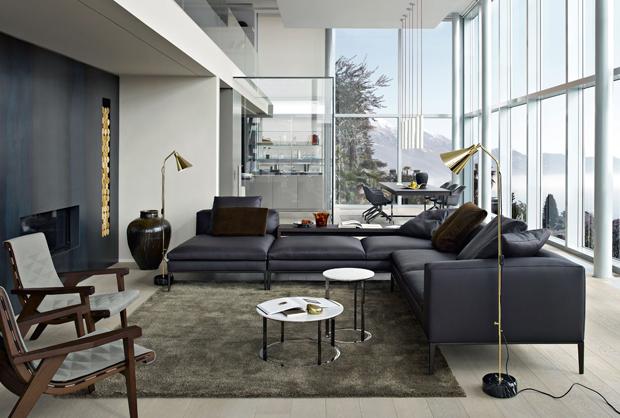 B b italia michel sofa design antonio citterio for Meuble contemporain italien