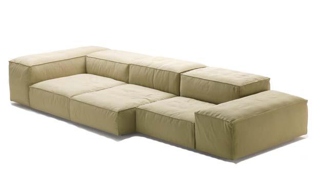 living divani extrasoft sofa design piero lissoni 2008. Black Bedroom Furniture Sets. Home Design Ideas