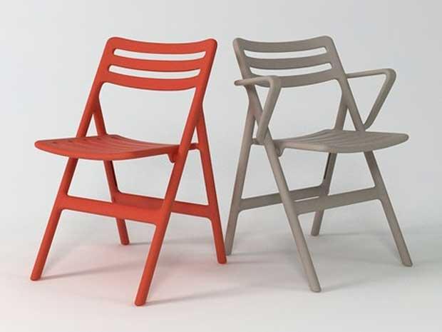 magis folding air chair design jasper morrison. Black Bedroom Furniture Sets. Home Design Ideas
