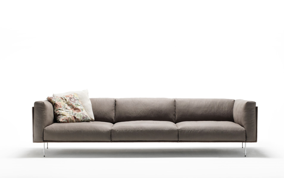 Living divani rod sofa design piero lissoni for Living divani softwall